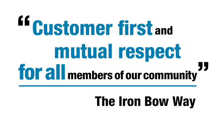 customer first and mutual respect for all